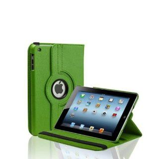 New w/ Stand 360 Rotating Pu Leather Case Cover for Apple Ipad Mini with Matte Anti glare Guard Screen Protector (Green) Computers & Accessories