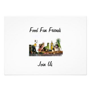 JOIN US FRIENDS FOOD FUN INVITATION