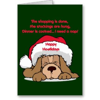 Christmas Humor Happy Howlidays Gifts Greeting Card