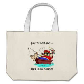 Funny fishing retirement canvas bags