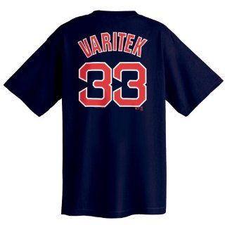 Majestic Boston Red Sox # 33 Jason Varitek Navy Blue Players T shirt (XX Large)  Sports Fan T Shirts  Sports & Outdoors