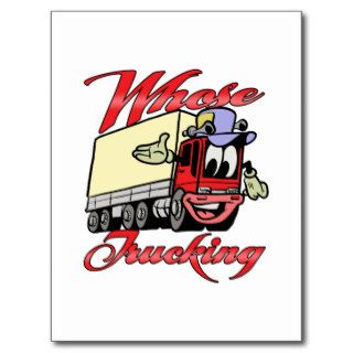 Kids Trucking Post Card