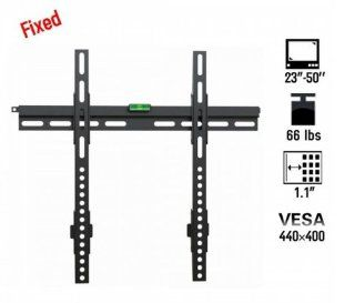 "Fast shipping + Free tracking number, VESA 440 x 400, Fixed 23 50"" Load capacity 66lbs Flat Panel Screen LCD LED Plasma TV Wall Mount Bracket Electronics"