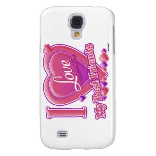 I Love My Best Friends pink/purple   hearts Samsung Galaxy S4 Covers