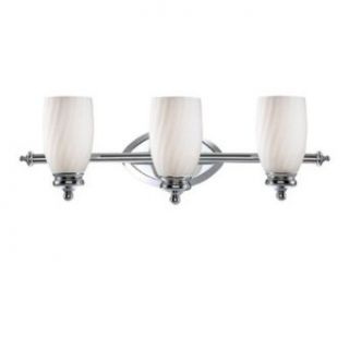 Designers Fountain 6703 CH Belize Three Light Bath Bar, Chrome Finish with Frosted White Glass   Vanity Lighting Fixtures