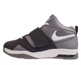 Nike Air Legacy 3 GS Grey White Black Velcro Youth Basketball Shoes 472677002 [US size 7] Shoes