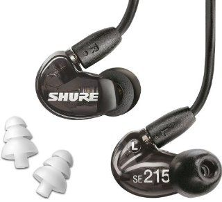 Shure SE215 K Sound Isolating In Ear Stereo Earphones (Black) with 3 Pairs of Triple Flange Sleeves for Better Sound Isolation Electronics