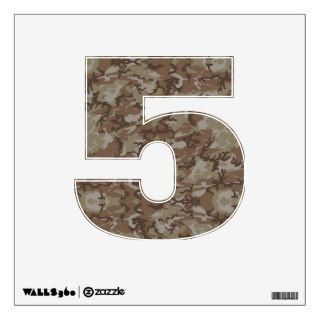 Number Decal   Desert Camo Military Camouflage Wall Graphic