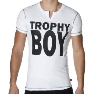 Andrew Christian Men's Trophy Boy T Shirt, White, X Large at  Men�s Clothing store