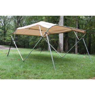 "New Beige/tan Pontoon / Deck Boat Vortex 4 Bow Bimini Top 12' Long, 8' Wide, 54"" High, Complete Kit, Frame, Canopy, and Hardware, In Stock for Immediate Shipment  Sports & Outdoors"