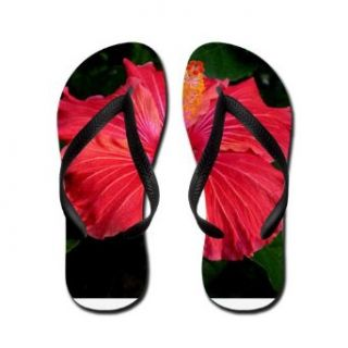 Artsmith, Inc. Women's Flip Flops (Sandals) Red Hibiscus Bloom Clothing