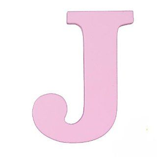"Wooden Letter ""J"" Color Pink   Nursery Wall Hangings"