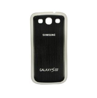 Samsung Galaxy S3 III GT i9300 ~ Metal Black Plastic Back Cover ~ Mobile Phone Repair Part Replacement Electronics
