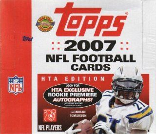 2007 Topps Football Factory Sealed HTA Jumbo Pack Hobby Box (each box includes at least 2 Autographs or Memorabilia Cards and 22 inserts)  Sports Related Trading Cards  Sports & Outdoors