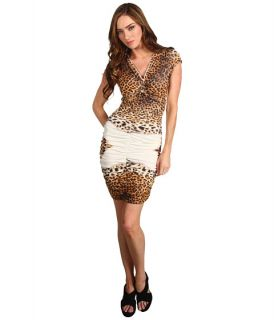 Just Cavalli Leopard Print Ruched Dress
