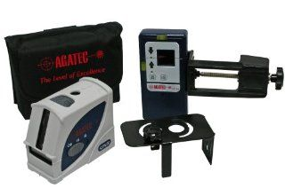 Agatec CPL50 Self Leveling Cross Line Laser Level with Pulse Mode and Laser Detector