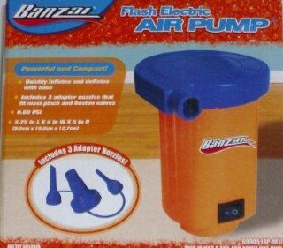 Banzai Electric Air Pump Inflater Adaptor & 3 Nozzles  Sports Inflation Devices  Sports & Outdoors