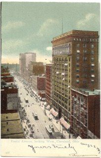 1907 Vintage Postcard   Euclid Avenue, looking West   Cleveland Ohio