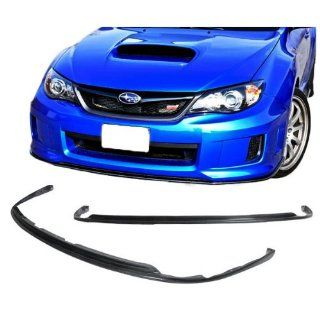 08 10 Subaru Impreza WRX STI Add On Front Bumper Lip Spoiler Bodykit Carbon Fiber Automotive