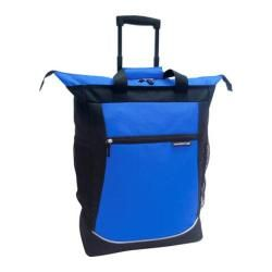 "Travelers Club 20in Rolling Tote w/ Telescopic Handle Blue Travelers Club Under 24"" Uprights"