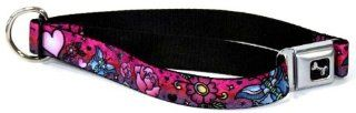 "Tattoo Love Seat Belt Buckle Style Dog Collar 1"" 15 26""  Pet Collars"