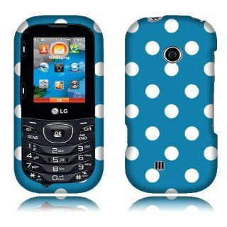 LG Cosmos 2 VN251 Light Blue/White Dots Cover Cell Phones & Accessories