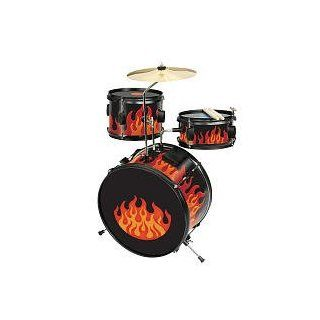 First Act FIRE ORANGE Light Up Drum Set WITH SOUND ACTIVATED LIGHT EFFECTS Toys & Games