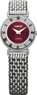 Jowissa Women's J2.072.S Roma 24 mm Maroon Dial Roman Numeral Stainless Steel Watch Watches
