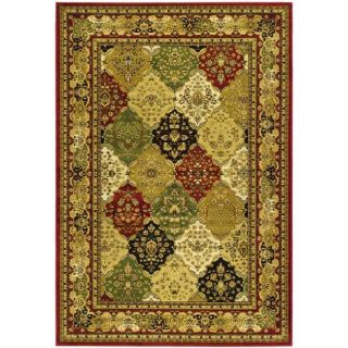 Lyndhurst Collection Traditional Multicolor/red Rug (4 X 6)