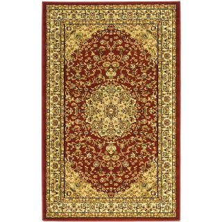 Lyndhurst Collection Red/ivory Polypropylene Rug (33 X 53)