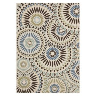 Safavieh Aegina Indoor/Outdoor Area Rug   Cream/Blue (53x77)