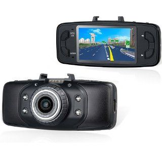 1080P 1920*1080 HD H.264 Vehicle Camera DVR Video Recorder 2.7 Inch HD LCD Display 170 Degree Wide Angle Lens G Sensor Function Support Up to 32G TF Card, Built in MIC and Speaker