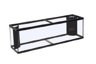 Perfecto Manufacturing APF97015 Marineland Fish Aquarium with 2 Corner Flo 265 Gallon Tank, 84 Inch, Black