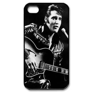Custom Elvis Presley Cover Case for iPhone 4 4S PP 1514 Cell Phones & Accessories