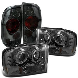 Rxmotoring 1999 Ford F350 Headlights Projector + Tail Light Automotive