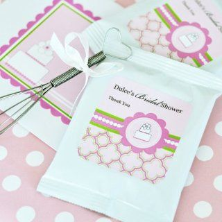 72PC EB2002PC Personalized Lemonade + Whisk Pink Cake Wedding Baby Shower Favors Health & Personal Care