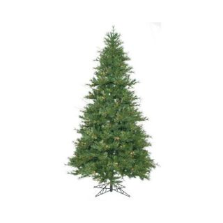 Vickerman Co. Mixed Country Pine 7.5 Green Slim Artificial Christmas Tree with Stand Christmas Decor