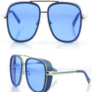 Generic NEW M3023 Iron Man Downey same style retro women men sunglasses (Blue) Shoes
