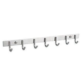 Contemporary 304 Stainless Steel Nickel Brushed Finish Wall Mount Row Robe Hook   Bath Towel Hooks