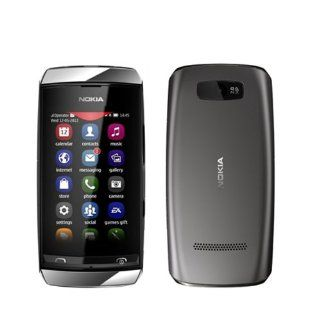 Nokia Asha 306 Unlocked GSM Quad Band Phone with Touchscreen and 2 MP Camera   No Warranty   Dark Grey Cell Phones & Accessories