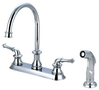 Pioneer 2DM301 Two Handle Kitchen Faucet, PVD Polished Chrome Finish   Touch On Kitchen Sink Faucets