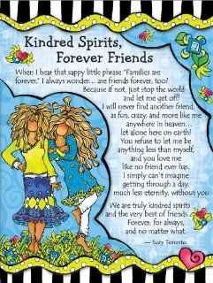 Blue Mountain Arts Kindred Spirits Forever Friends by Suzy Toronto Miniature Easel Back Print with Magnet (MNZ309)