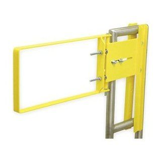 FabEnCo, Inc. A71 24PC Safety Yellow Powder Coat Self Closing Safety Gate   Gate Hardware