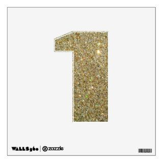 Faux Gold Glitter Number 1 1st Birthday Wall Decal