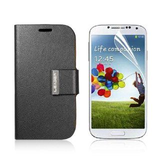 Flip Leather Case Cover For Samsung Galaxy S4 IV i9500 + Screen Protector PC467B Cell Phones & Accessories