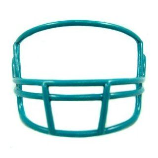 Riddell Blank Mini Football Helmet Facemask   Dolphin Blue  Sports Related Collectible Mini Helmets  Sports & Outdoors