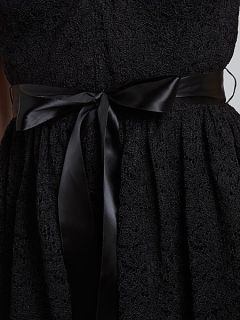 Adrianna Papell Halterneck Lace Dress Black