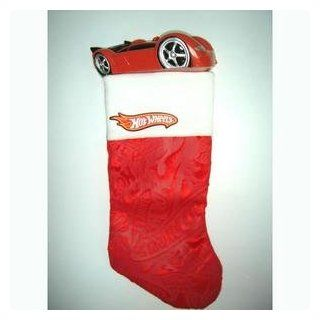 Hot Wheels Red Car Plush Christmas Stocking #HS0126