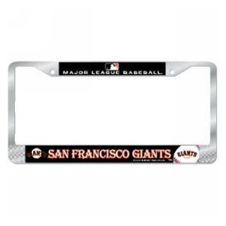 San Francisco Giants MLB Chrome License Plate Frame  Sports Fan License Plate Frames  Sports & Outdoors