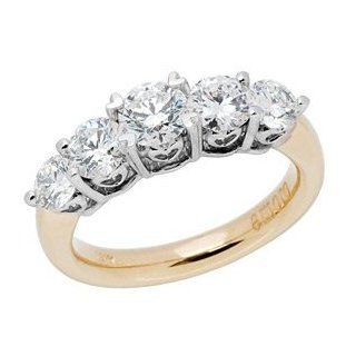 One and a Half Carat Ideal Eternity Cut Diamond Ring in 18kt Yellow Gold Carat Total Weight 1.50 Jewelry